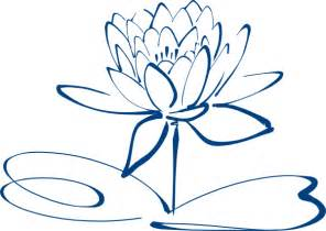 Lotus Outline Picture Lotus Flower Outline Blue Clip At Clker Vector