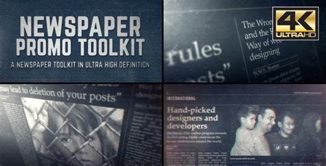 Newspaper Promo Toolkit Corporate Envato Videohive After Effects Templates Newspaper After Effects Template
