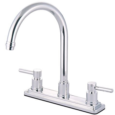 brass kitchen faucet kingston brass ks8791dlls concord 8 quot centerset kitchen faucet polished chrome kingston brass