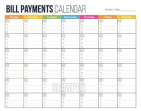 Monthly Budget Calendar Template by 25 Best Ideas About Bill Payment Organization On
