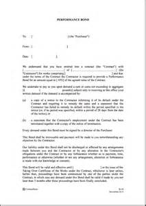 Bond Agreement Letter Format Joint Undertaking Quotes Quotesgram