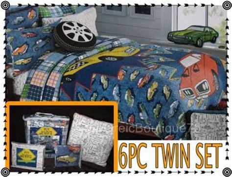 vintage car bedding teen boys 6pc twin quilt bedding set quot vintage car quot boy