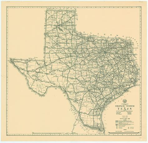 vintage texas maps vintage map of texas 1933 photograph by fowler
