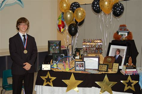 table picture display ideas graduation table and decorations display awards and