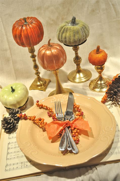 Fall Table Settings How To Gild A Pumpkin For A Festive Fall Centerpiece Make And Takes