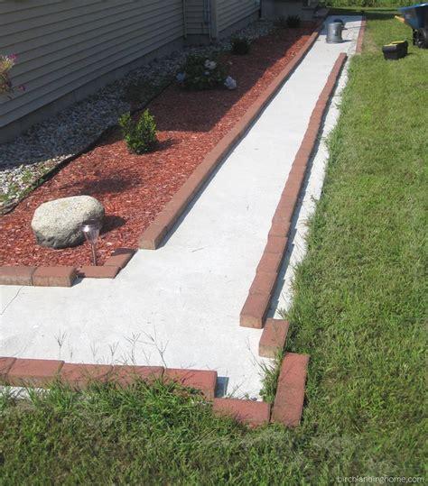 easy brick upgrade for concrete walkway journal birch