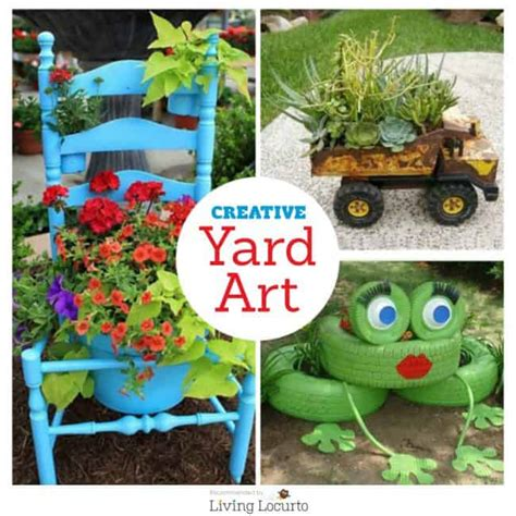 diy yard art crafts home decor garden ideas