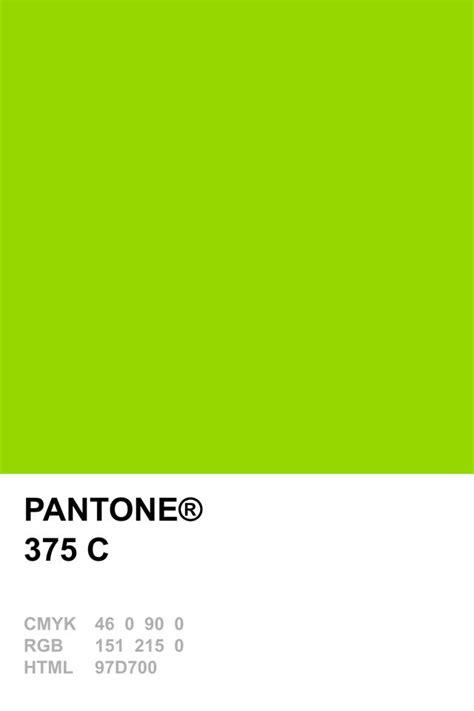 pantone c pantone 375 c pantones pinterest pantone