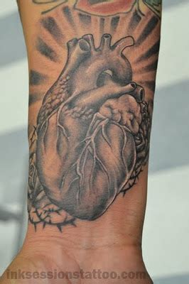 black and grey heart tattoo designs 26 awesome real heart tattoos designs and images