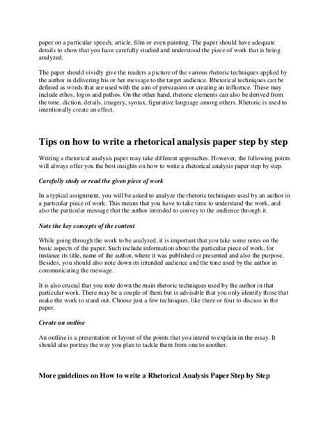 How To Make Analysis Paper - how to write a rhetorical analysis paper step by step