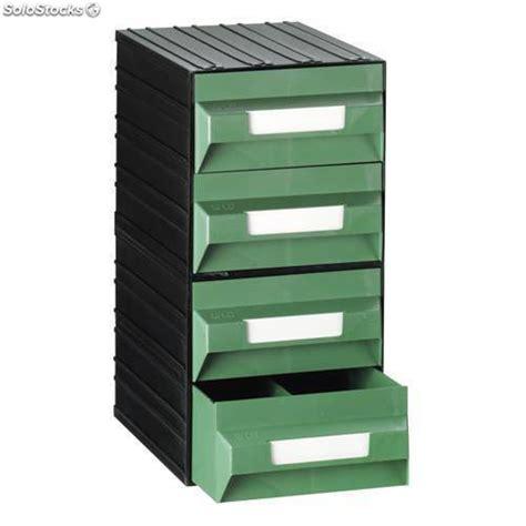 cassettiere in plastica componibili cassettiera in plastica componibile con 4 cassetti verdi