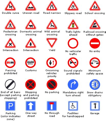 printable european road signs common european road signs