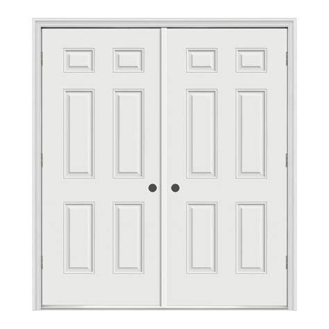 Prehung Interior French Doors Home Depot - shop reliabilt reversible primed steel prehung entry door with insulating core common 60 in x