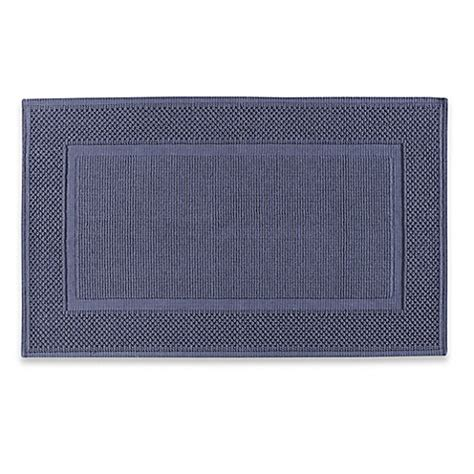 Jacquard Bath Rug Buy Jacquard Ring Spun 20 Inch X 33 Inch Bath Rug In Blue From Bed Bath Beyond