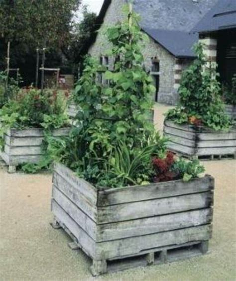 pallet raised bed pallet garden raised bed gardening with pallets pinterest