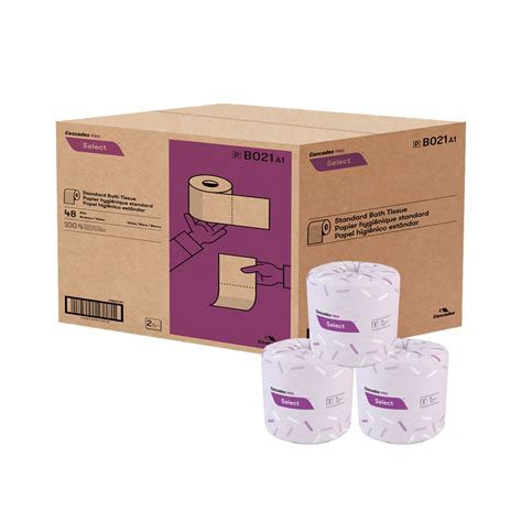 cascades bathroom tissue cascades standard bath tissue 2 ply 420 sheets box of