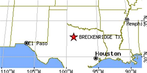 breckenridge texas map breckenridge texas tx population data races housing economy
