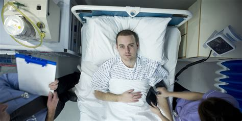 man in hospital bed study says stressful marriages can lead to early death in