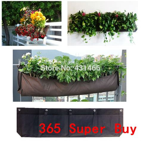 outdoor wall hanging planters four pocket horizontal l100cm x w30cm flower pot vertical