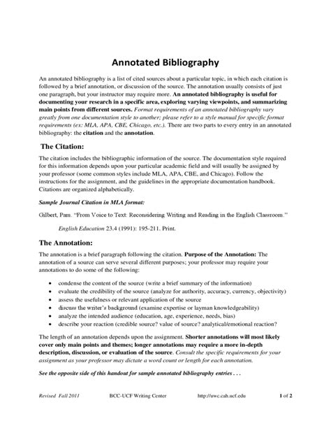 thesis bibliography exles of annotating an essay
