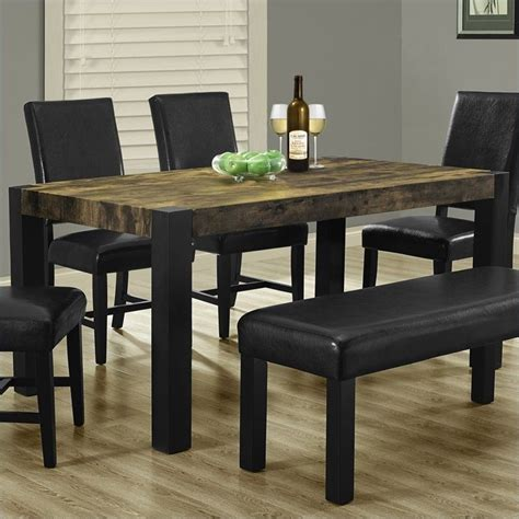 distressed black dining table monarch rectangular dining table dining furniture in distressed black ebay