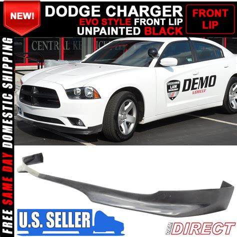 2013 dodge charger front lip 11 13 dodge charger ra style front bumper lip pu ebay