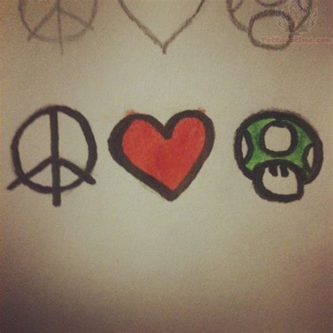 love life tattoo designs peace rate my ink pictures designs