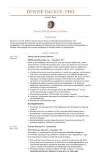 hr business partner resume samples visualcv resume