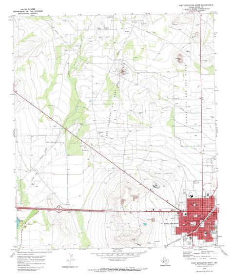 fort stockton texas map fort stockton west topographic map tx usgs topo 30102h8