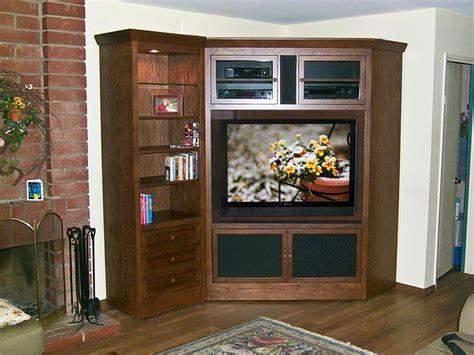 corner entertainment center pictures corner tv armoire  bookcase   oak wood designs