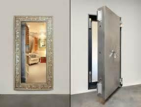 Mirror In Front Of Door Secure Room Custom Mirrored Vault Door Stashvault