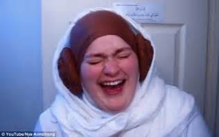 hijab with bun the force is strong with this one girl transforms her