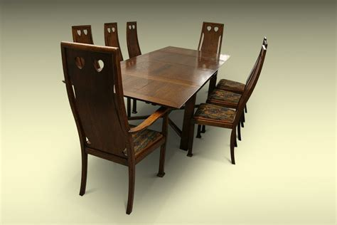 Arts And Crafts Dining Table And Chairs Arts And Crafts Dining Suite Liberty S Milverton Table And Goodyers Chairs The Design Gallery
