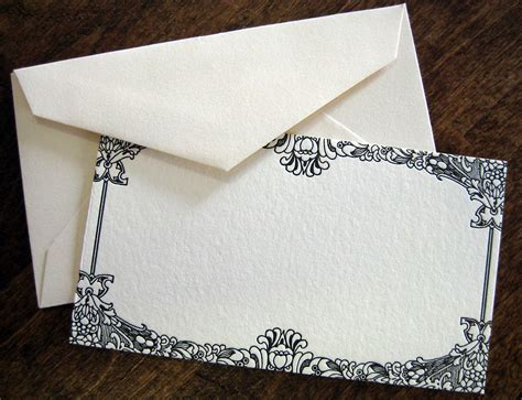 Wedding Invitation Note Cards by Virginia Letterpress Mini Note Cards With Envelopes