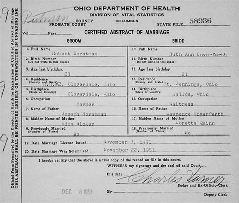 Putnam County Ohio Marriage Records Genealogy Data Page 107 Notes Pages