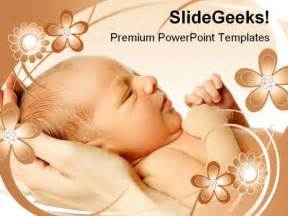 new born baby family powerpoint backgrounds and templates