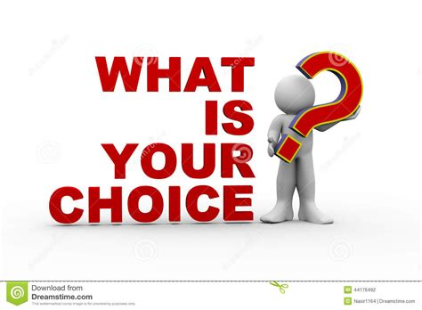 What S Your What 3d what is your choice stock illustration