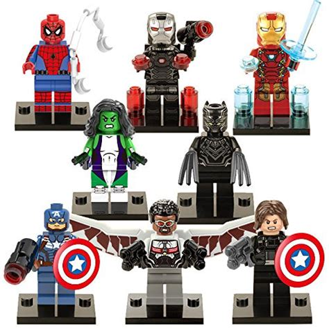 Lego Original Minifigure Captain America Age Of Ultron 8 sets minifigure building toys