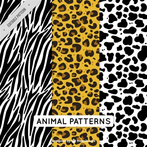 vector background pattern pack pack of decorative animal patterns vector free download