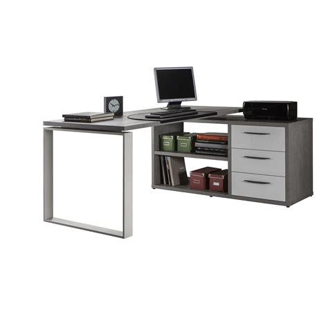 scrivania con cassetti scrivania con cassetti 170 cm cemento e bianco laccato