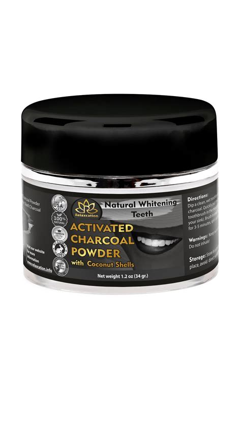 activated charcoal powder  natural whitening teeth
