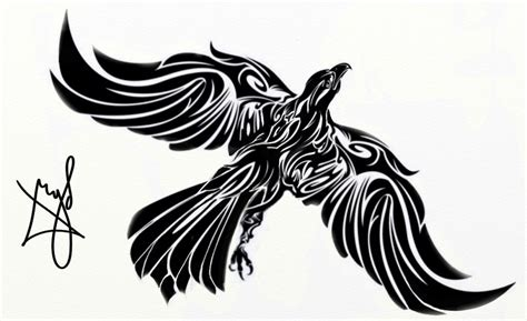 eagle and cross tattoo designs fresh tribal eagle with a cross design 187 ideas