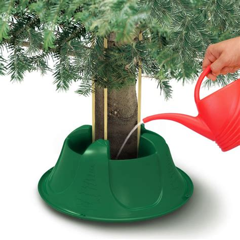 how to stand a real christmas tree aura 8 green real tree stand for trees up to 8ft 2 4m