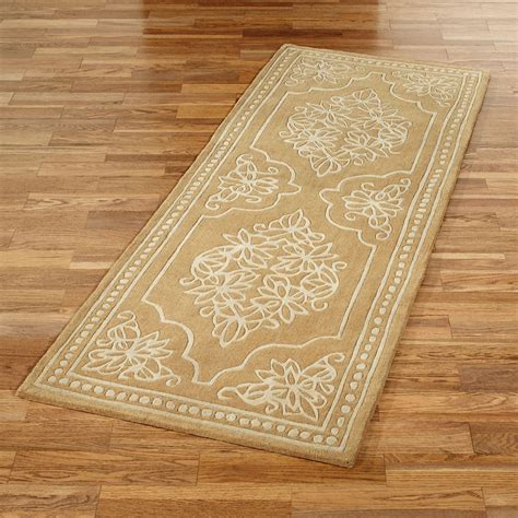 golden lace wool rug runner