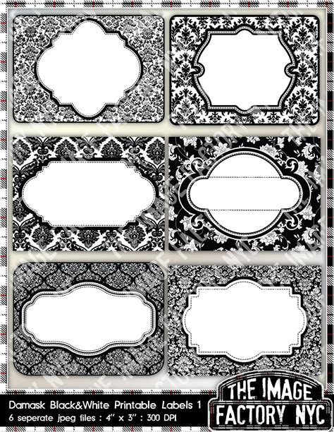 Black and white label templates www imgkid com the image kid has it