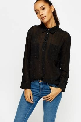 Black Sheer Blouse by Textured Black Sheer Blouse Just 163 5