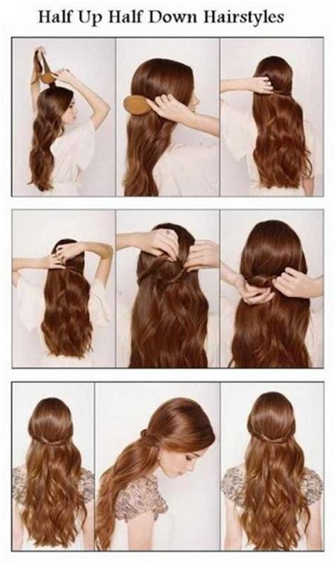 simple hairstyles for long hair step by step easy step by step hairstyles for long hair