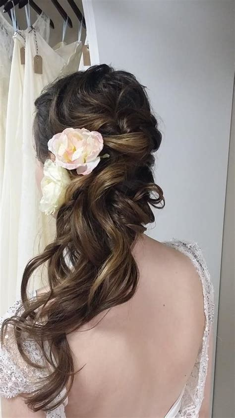 one side hairstyles accessories 107 best images about wedding hairstyles on