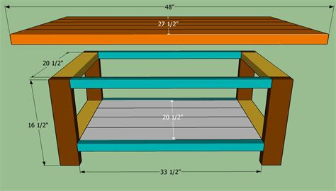 How To Make A Simple Coffee Table How To Build A Coffee Table Howtospecialist How To Build Step By Step Diy Plans