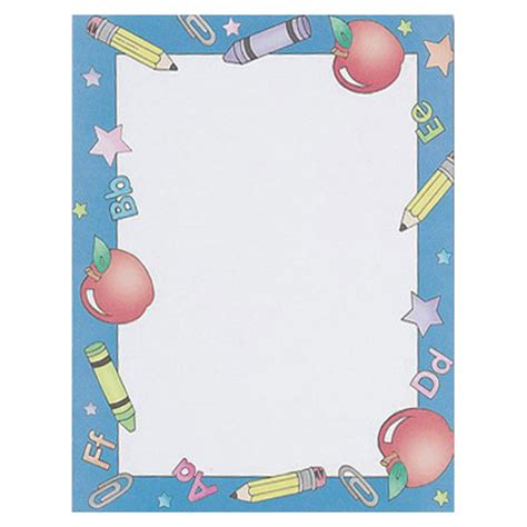 school days classroom border paper your paper stop